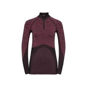 Odlo Black Comb BI Top Turtle Neck LS 1/2 Zip Femme