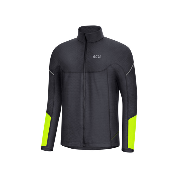 Gore M Maillot ML Thermo Full Zip Homme Noir Neon