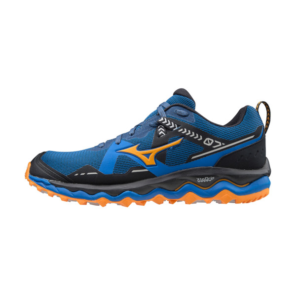 Mizuno Wave Mujin 7 Homme Princess Blue / Lunar Rock / Flame Orange