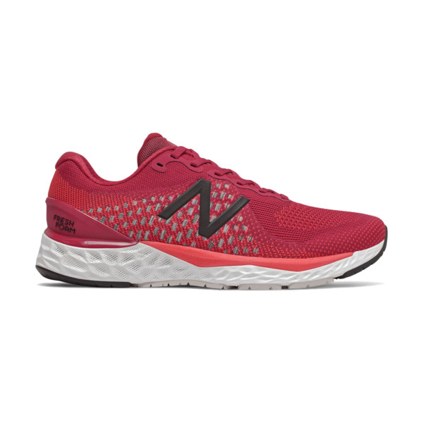 New Balance 880v9 Homme White With Black & Energy Red