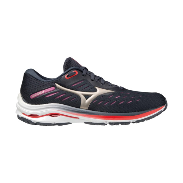 Mizuno Wave rider 24 Femme Indiaink/pgold/ignitionr
